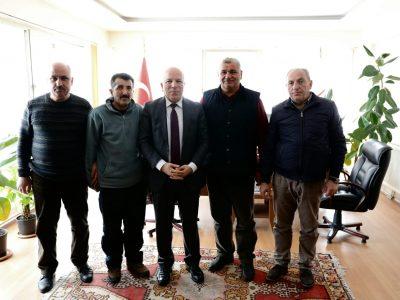 Büyükşehir Belediye Başkanı Mehmet SEKMEN Odamızı ziyaret etti.