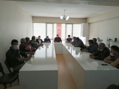 Üyelerimizle istişare toplantısı yaptık.